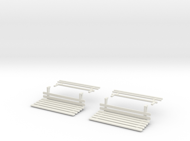 TARS Brill O scale - LIFEGUARDS in White Natural Versatile Plastic