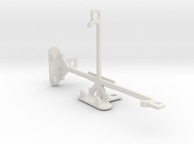 LG X screen tripod & stabilizer mount in White Natural Versatile Plastic