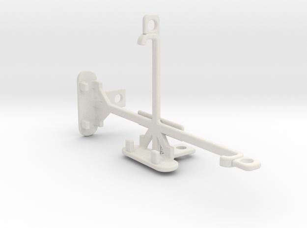 Samsung Galaxy Alpha (S801) tripod mount in White Natural Versatile Plastic