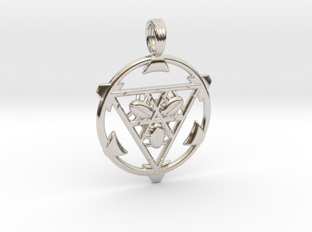 TRI-SCARAB in Rhodium Plated
