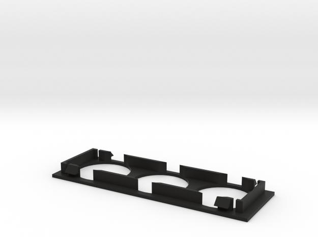 Triple 52mm Smith Dial Single Din Blank Plate