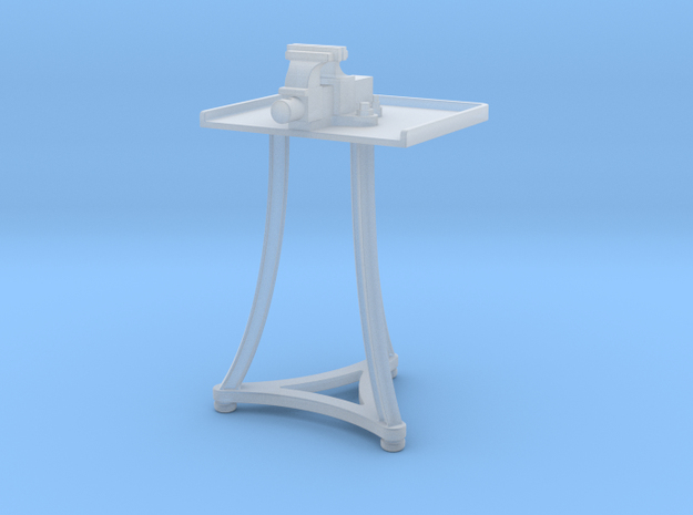1:24 Blacksmith Vise Table in Smooth Fine Detail Plastic