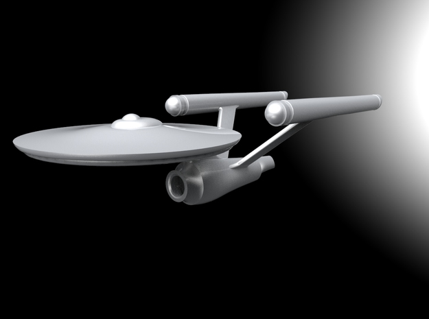 Starship Enterprise (pendant) in White Processed Versatile Plastic