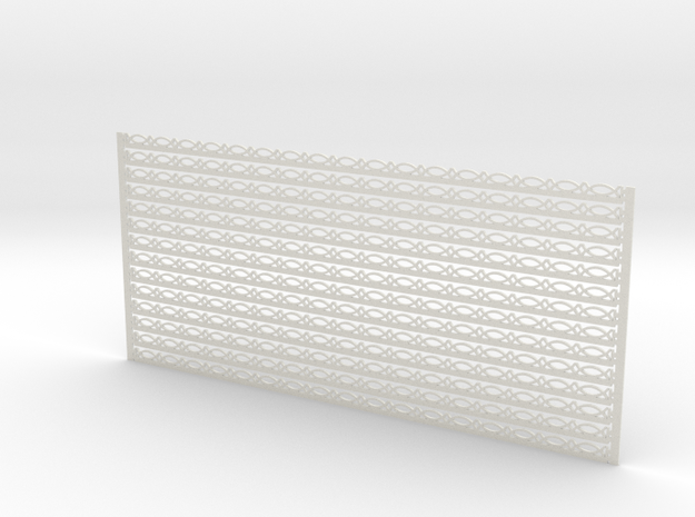 Arch. Fascia (Barge) Boards - Bead & Real Pattern in White Natural Versatile Plastic: 1:24