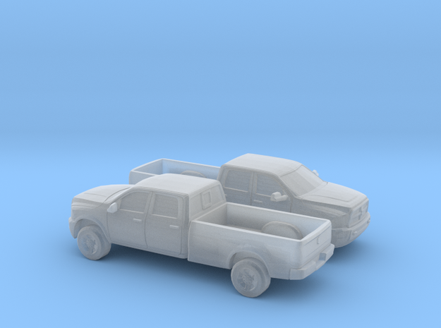 1/160 2X 2013 Dodge Ram Crew  Long Bed in Smooth Fine Detail Plastic