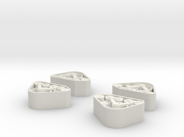Mattracks front 1:25 in White Natural Versatile Plastic