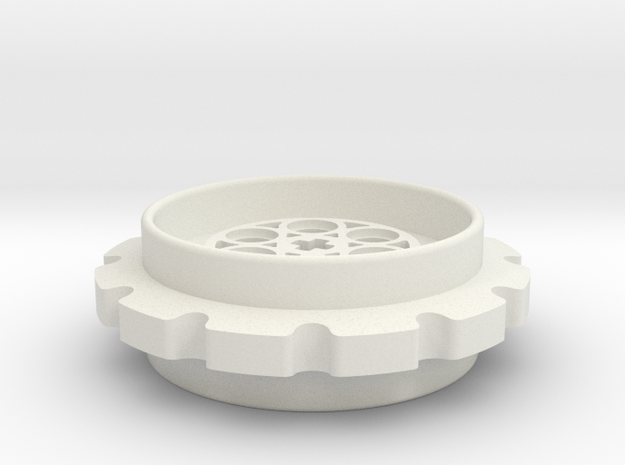 Lego Sprocket 12T in White Strong & Flexible