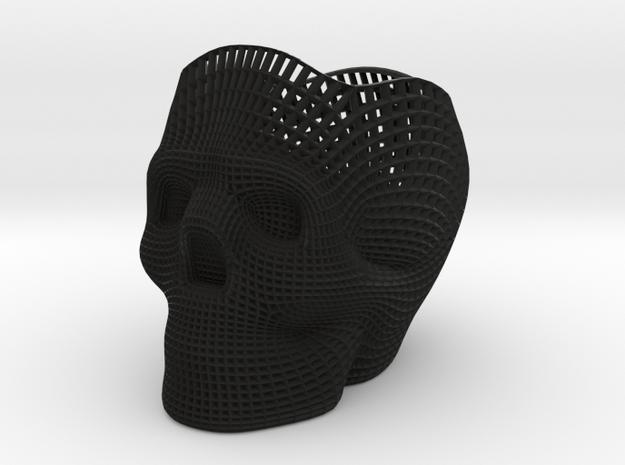 Skull Pencilholder in Black Strong & Flexible: Medium