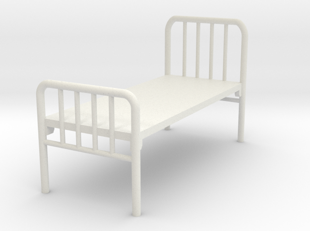 1:48 Hospital Bed in White Strong & Flexible