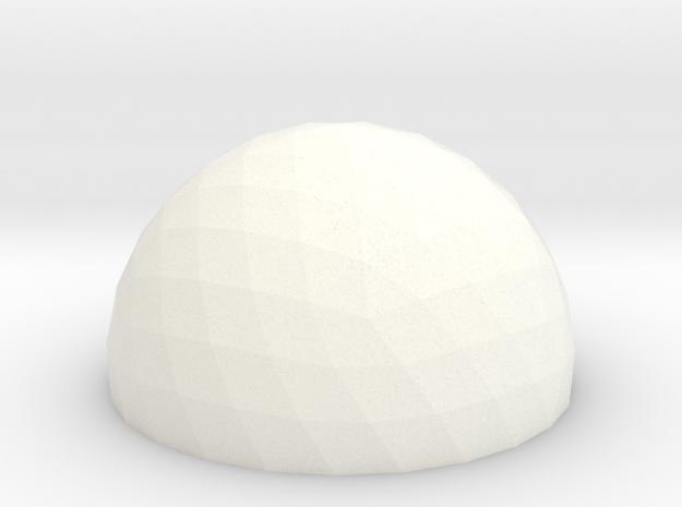 Geodesic Dome 5v 15cm in White Processed Versatile Plastic