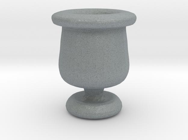 Mini Apothecary Pot - style 2 in Polished Metallic Plastic