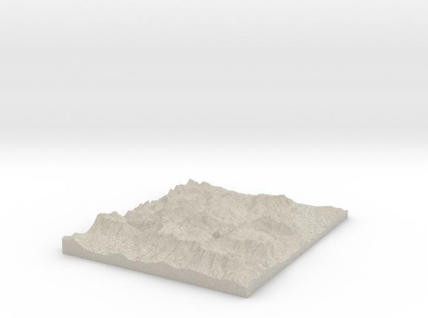 Model of Berchtesgaden Alps in Natural Sandstone