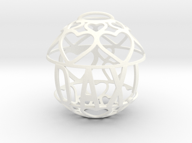 Dax Lovaball in White Processed Versatile Plastic