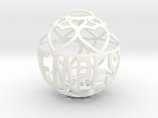 Tempest Lovaball in White Processed Versatile Plastic