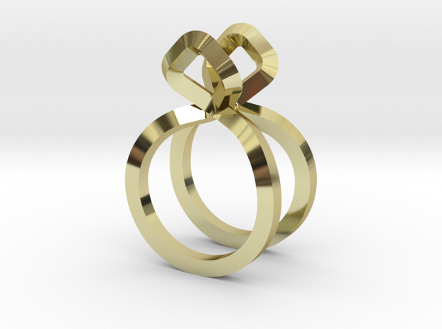 Sharp Rythm Allure, US size 5, Ring d=15,5 mm(all  in 18k Gold Plated Brass: 5 / 49