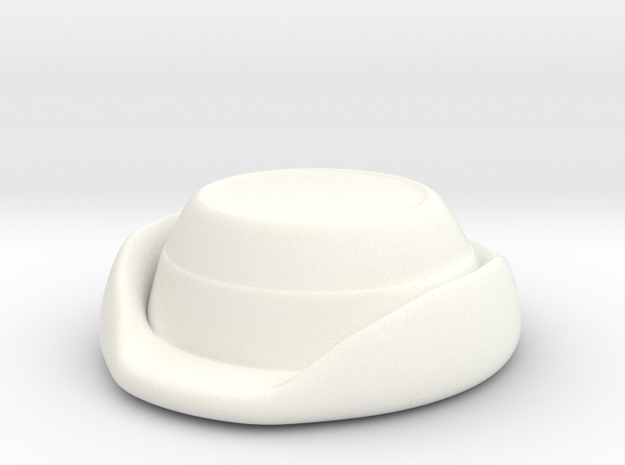 Wrens Hat in White Strong & Flexible Polished