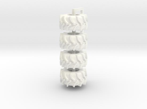 35.5 Rice Tire in White Processed Versatile Plastic
