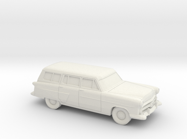 1/87 1952 Ford Crestline Station Wagon in White Natural Versatile Plastic