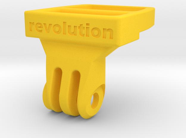 Fizik ICS / GoPro Adapter (compact) in Yellow Processed Versatile Plastic