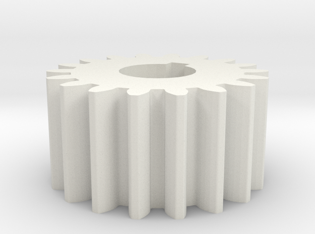 Cylindrical gear Mn=1 Z=18 AP20° Beta0° b=10 HoleØ