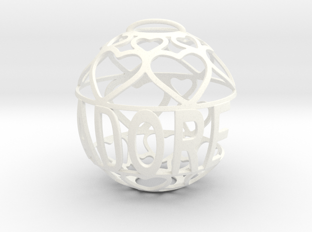 Adore Lovaball in White Processed Versatile Plastic