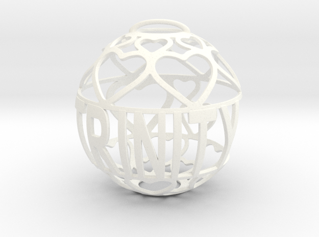 Trinity Lovaball in White Processed Versatile Plastic