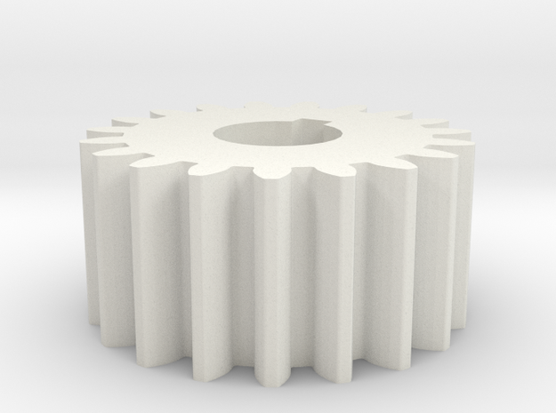 Cylindrical gear Mn=1 Z=19 AP20° Beta0° b=10 HoleØ