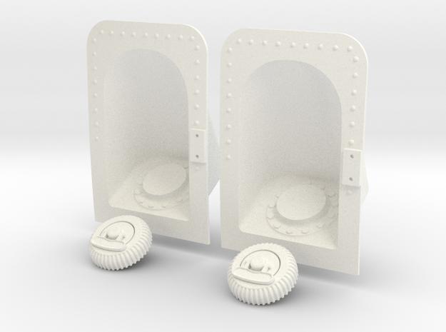 1.5 TRAPPE KERO PUMA in White Processed Versatile Plastic