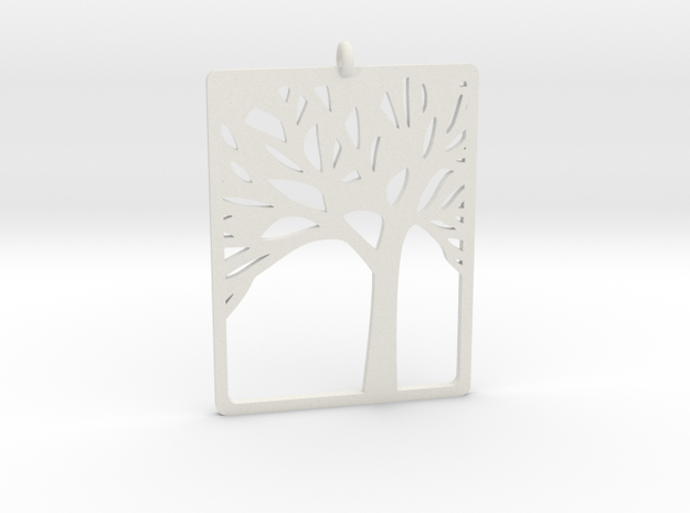 Pendant in White Natural Versatile Plastic