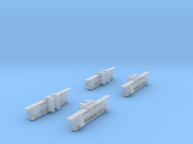 Sideframes for N Scale Baldwin Steeplecab in Smooth Fine Detail Plastic
