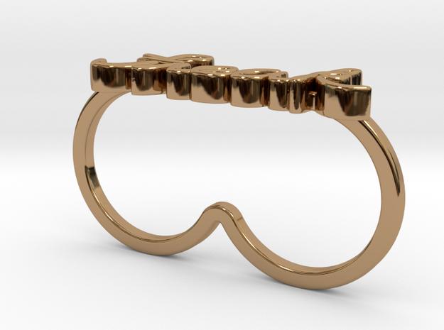 Freak Script Ring (2-Finger)