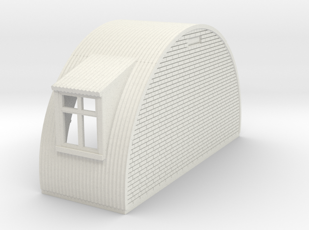 N-76-end-brick-nissen-hut-left-wind-1a in White Natural Versatile Plastic