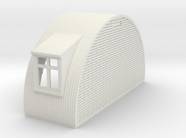 N-76-end-brick-nissen-hut-left-wind-1a in White Natural Versatile Plastic