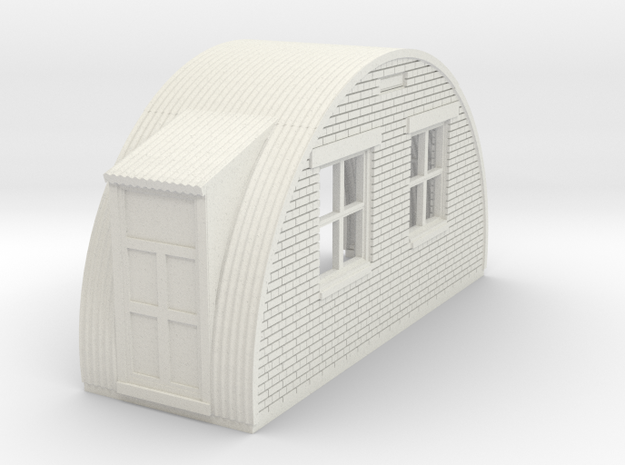 N-76-back-end-brick-nissen-hut-left-door-1a in White Natural Versatile Plastic