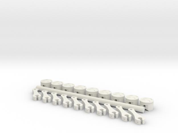 ScaledEngines_Pistons & Rods in White Natural Versatile Plastic