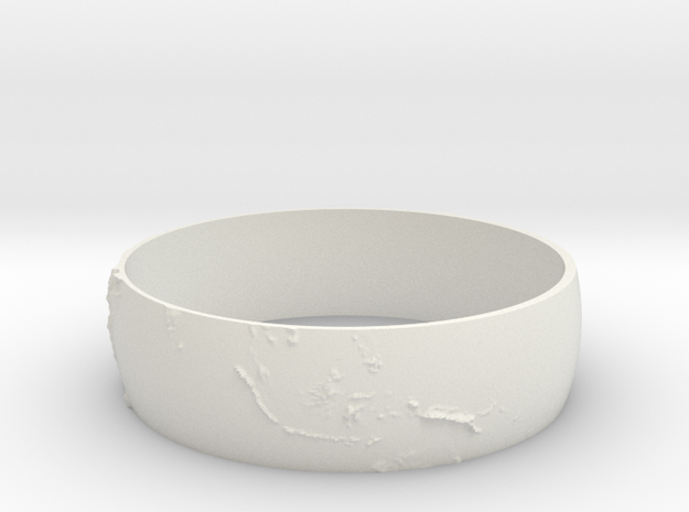 Earth Bracelet in White Natural Versatile Plastic