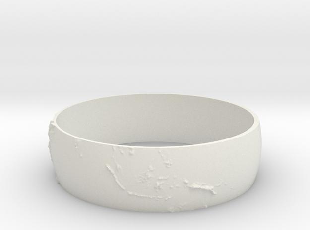 Earth Bracelet in White Natural Versatile Plastic
