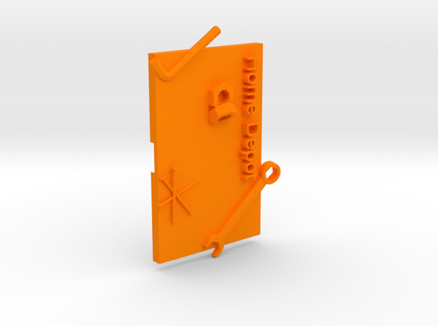 Home Depot Gift Card Holer in Orange Processed Versatile Plastic