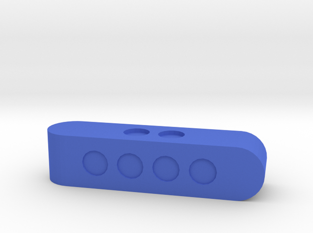 d4 Sphericon Stick Die in Blue Processed Versatile Plastic