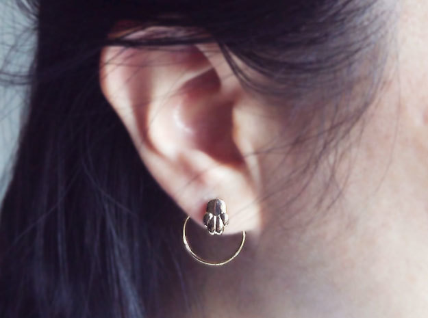Cat or Dog Paw Earring