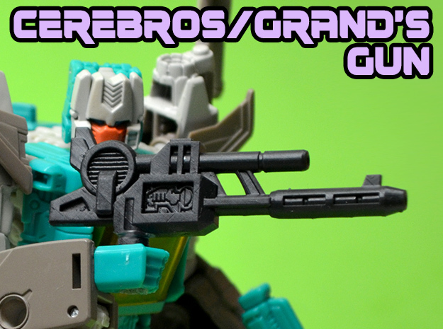 Cerebros/Grand Gun, 5mm in Black Hi-Def Acrylate