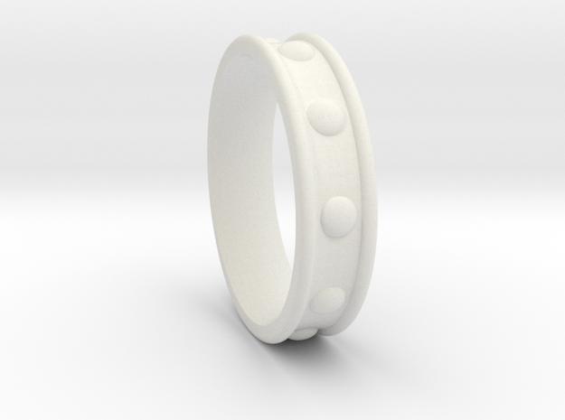 Studded Collar Ring in White Natural Versatile Plastic