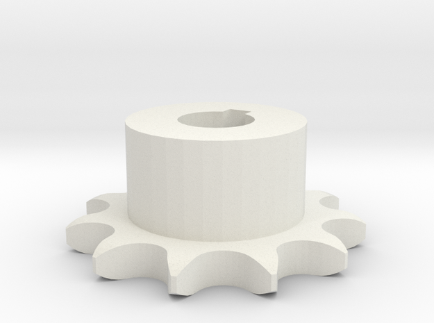 Pignone Per Catena Semplice ISO 04B-1 P6 Z11 in White Natural Versatile Plastic