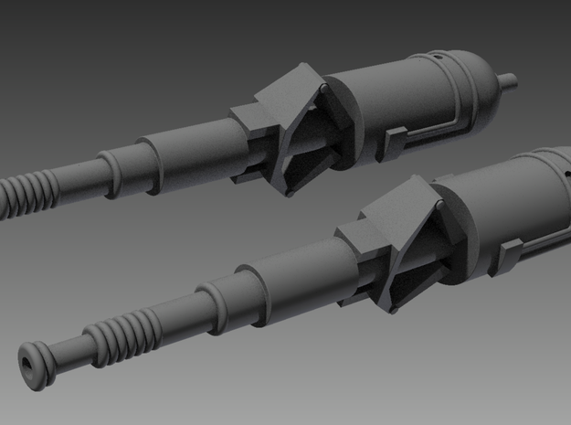 Viper MkI Cannons 1/32 3d printed Shaded render of the cannons