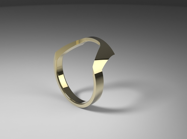 Static Ring - SIZE 8  in 14k Gold Plated