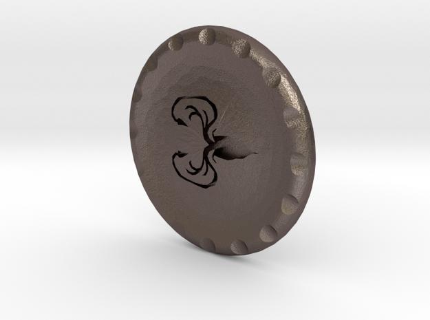Golf Ball Marker House Greyjoy in Polished Bronzed Silver Steel