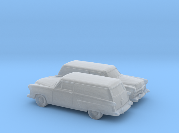 1/160 2X 1952 Ford Courier Sedan Delivery in Smooth Fine Detail Plastic