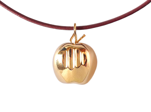 Mela pendant (cm 2) in Polished Brass