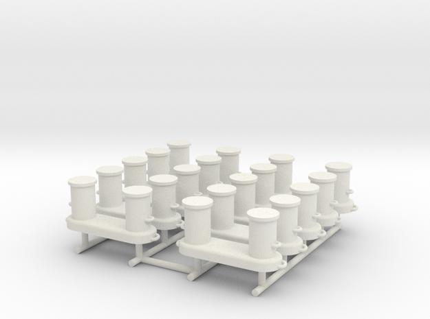 AHTS Bollards 1:50 in White Natural Versatile Plastic