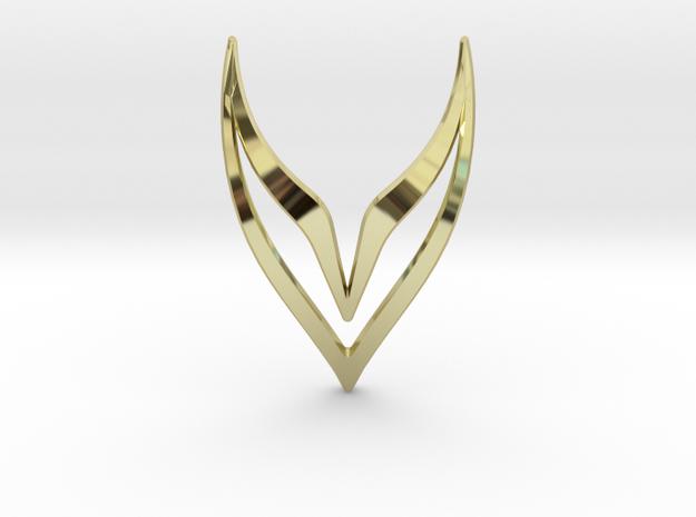 sWINGS Fly, Pendant in 18k Gold Plated Brass